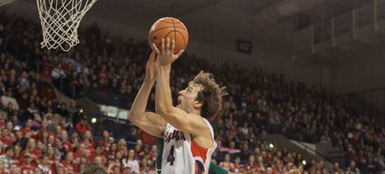 Gonzaga guard Kevin Pangos, courtesy of Gonzaga University