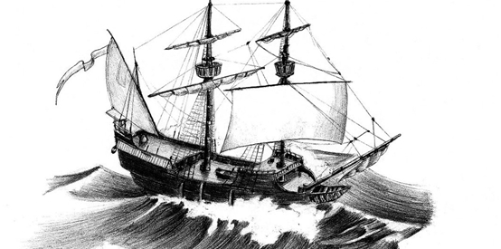 Sailing Ship at Storm