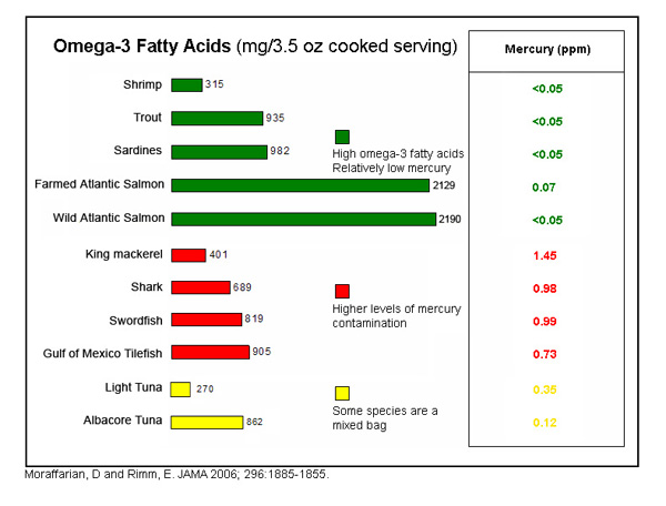 Omega 3 fatty acids health benefits by ralph teller on 1vigor for Mercury in fish list