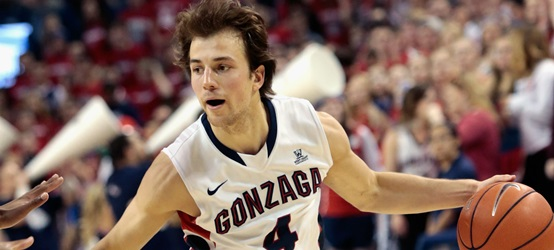 Kevin Pangos leading Gonzaga, courtesy of Sporting News